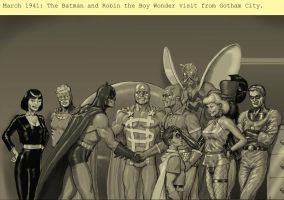 TLIID Batman 75 years - meets The Minutemen by Nick-Perks
