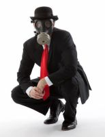 Gas Mask Suit Up by Photopersuasion