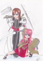 Kage and Momoiro by ProfessM