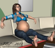 Relaxing at NEW home by PreggoBellyLover