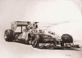 Lewis Hamilton's 2011 Mclaren F1 car by CaptainJoellie