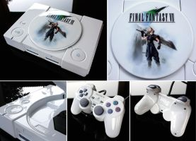 custom Final Fantasy VII playstation by Zoki64