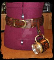 leather utility belt by Lagueuse