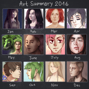 Art Summary 2016 by TheAngelCookie