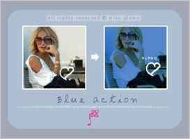 "Blue""""action by missGlamo"