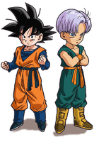 Goten and Trunks render by Ichiron47