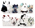 [CLOSED] ADOPT AUCTION 154 - Shadowmonsters by Piffi-adoptables