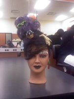 Candyland Halloween Hair by bkell22