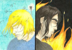 Fire and Dandelions by Maiasm