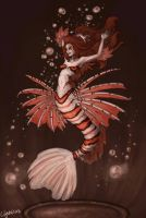 Lionfish Mermaid by lilythebird