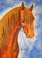 horse painting  by ninja-my-cat