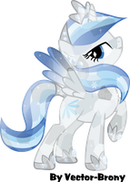 crystal Snowblossom by Vector-Brony