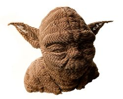 DIY Yoda from corrugated cardboard by ravdenmark