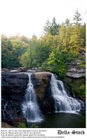 Black Water Falls by Della-Stock