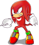 Knuckles the echidna by LynIcarus