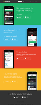 eventtus app download page by ZeroTheDesigner