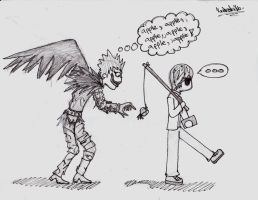 Death Note- Ryuk and His Apple by Narutostalker