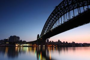 Sydney Harbour Bridge Sunrise by derfel-c