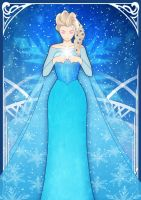 Elsa Snow Queen by JaysonHuangDraws