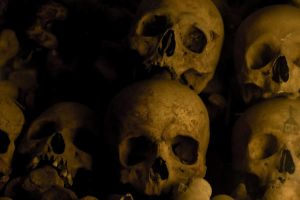 Inside the catacombs of Lima by SantiBilly