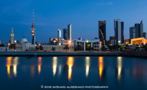 Kuwait City in the Blue Hour by GTMQ8