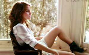 Emma Watson in the room by RafaelGiovannini