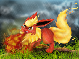 .:: Flareon - Attack ::. by Gem-n-Ems