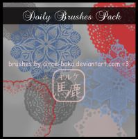 Doily Brushes Pack by Circe-Baka