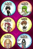 Code Geass Buttons Set by tomgirl227