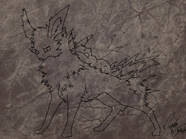 Jolteon and Pikachu Lineart by AmethystCreatures