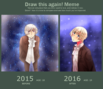 Draw This Again Meme - Stars - 2016 by Shiunee