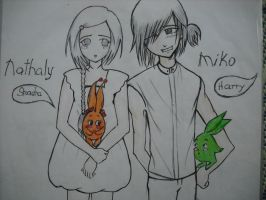 nathaly with miko by iloveanimesuper