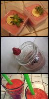 Smoothies with Strawberries by sake-bento