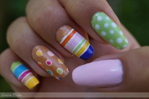 colorfull nails [right hand] by yuki365