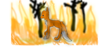 Fox in Flames by FrostyWolfPup