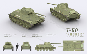 T-50 KHOREK - Light Infantry Tank by cr8g