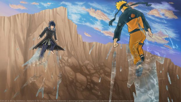 Fan art - Naruto VS Sasuke by bahtera-merdeka