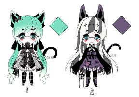 neko witch adoptables CLOSED by AS-Adoptables