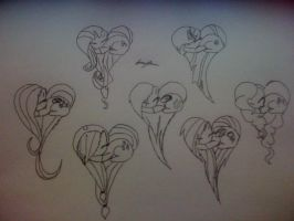 heart ponies by jennyTHEBEATLES