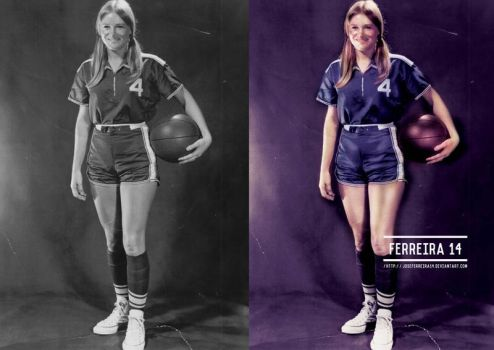 70s Texas Cowgirl before and after by JoseFerreira14