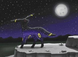 Night Sky Umbreon by MusicMew