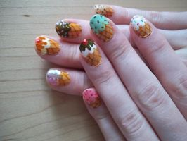 Icecream Cone Nails 2 by Hil7