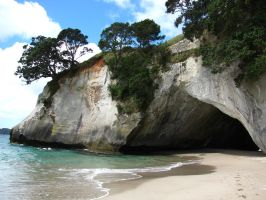 Cathedral Cove by modestlobster