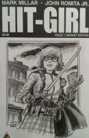Hit-Girl sketch cover by deankotz