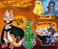 Halloween Special Commissions CASH OR POINTS by MystikMeep