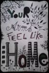 Your arms feel like home by Anca-Mihaela