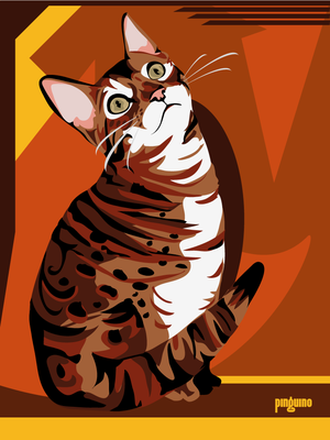 Bengal Cat by pinguino