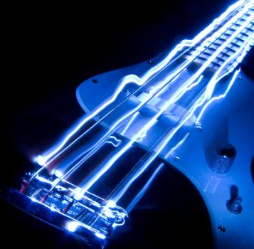 Light Drawing - Guitar 3 by Got-Died