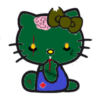 Zombie Hello Kitty by bieber90pink