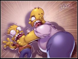 homer and bart by wagnerf